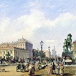 part 02 Hermitage - Bonstedt, Louis Franz Karl - Nevsky Prospekt near the Anichkov Bridge