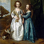 Portrait of Elizabeth and Philadelphia Wharton, Anthony Van Dyck