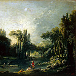 Landscape with pond, Francois Boucher