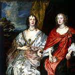 Portrait of the ladies, Mrs. George Kirk and unknown lady, Anthony Van Dyck