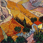 Landscape with House and plowman, Vincent van Gogh