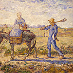 Morning. Departure work, Vincent van Gogh