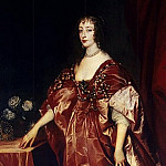 Portrait of Queen Henrietta Maria, Anthony Van Dyck