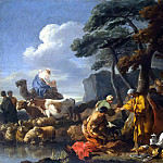 Jacob buries the idols in the land of Shechem under an oak tree (), Sebastien Bourdon