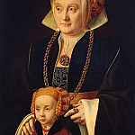 Brain Bartholomeus Elder – Portrait of a Lady with her daughter, part 02 Hermitage