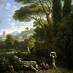 part 02 Hermitage - Bloom, Jan Frans van - Landscape with a fountain
