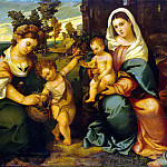 part 02 Hermitage - Bonifacio Veronese - Madonna and Child with St. Catherine, John the Baptist, Dorothea and Anthony Abbot