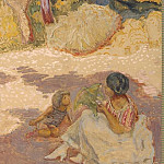 In the Mediterranean Sea. Right panel, Pierre Bonnard
