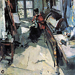 In the room. 1919, Konstantin Alekseevich (1861-1939) Korovin
