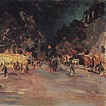 Paris by night. 1911, Konstantin Alekseevich (1861-1939) Korovin