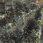 Paris by night. Italian Blvd. 1908, Konstantin Alekseevich (1861-1939) Korovin