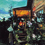 Konstantin Alekseevich (1861-1939) Korovin - Summer evening on the porch. 1922