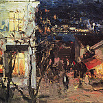 Yalta at night. 1905, Konstantin Alekseevich (1861-1939) Korovin