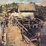 Konstantin Alekseevich (1861-1939) Korovin - Bridge at the mill. 1908