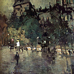 Konstantin Alekseevich (1861-1939) Korovin - Paris after a rain. 1900