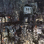 After a rain. Paris. 1897, Konstantin Alekseevich (1861-1939) Korovin