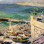 Pier in the Crimea. 1913, Konstantin Alekseevich (1861-1939) Korovin