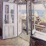 Konstantin Alekseevich (1861-1939) Korovin - Balcony in the Crimea. 1910