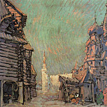 Konstantin Alekseevich (1861-1939) Korovin - Red Square in Moscow. 1910