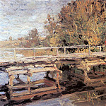 Autumn. On the bridge. 1910, Konstantin Alekseevich (1861-1939) Korovin
