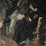 On the terrace. 1920, Konstantin Alekseevich (1861-1939) Korovin