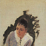 Konstantin Alekseevich (1861-1939) Korovin - Portrait of the artist MV Yakunchikova. Mid 1880
