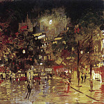 Konstantin Alekseevich (1861-1939) Korovin - Paris by Night. 1920