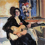 Konstantin Alekseevich (1861-1939) Korovin - Lady with the guitar. 1911