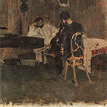 In the room. 1886, Konstantin Alekseevich (1861-1939) Korovin
