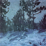Konstantin Alekseevich (1861-1939) Korovin - Winter night. 1910