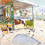 Konstantin Alekseevich (1861-1939) Korovin - On the beach in the Crimea. 1909