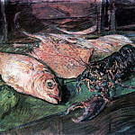 Still Life with Lobster. 1930, Konstantin Alekseevich (1861-1939) Korovin
