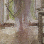 Girl on the threshold, Konstantin Alekseevich (1861-1939) Korovin