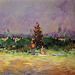 Konstantin Alekseevich (1861-1939) Korovin - Hot day at Moscow. 1921