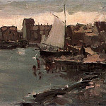 Konstantin Alekseevich (1861-1939) Korovin - Harbor in Norway. 1894