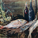 Konstantin Alekseevich (1861-1939) Korovin - Still life with fish. 1930
