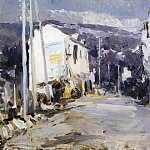 Road in the southern city. 1908, Konstantin Alekseevich (1861-1939) Korovin