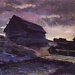 Konstantin Alekseevich (1861-1939) Korovin - Landscape with cottages. 1894