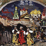 On the Square. 1912, Konstantin Alekseevich (1861-1939) Korovin