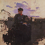 In the road. 1885, Konstantin Alekseevich (1861-1939) Korovin