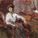 Two in the chair. 1921, Konstantin Alekseevich (1861-1939) Korovin