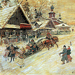 Russia. The festive outdoor party. 1930, Konstantin Alekseevich (1861-1939) Korovin