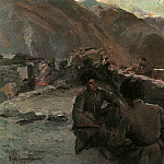 In the Caucasus. Fed by mountain people. 1889, Konstantin Alekseevich (1861-1939) Korovin
