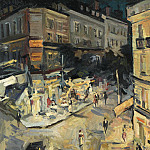 Коровин Константин Алексеевич (1861-1939) - Rue de Paris in Vichy