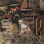 Twilight in the room. 1880, Konstantin Alekseevich (1861-1939) Korovin