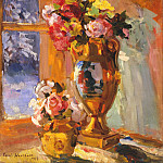 Still life with a portrait of Pepper. 1916, Konstantin Alekseevich (1861-1939) Korovin