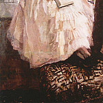 Konstantin Alekseevich (1861-1939) Korovin - Portrait of Tatiana Spiridonovny Lyubatovich. The second half of 1880