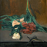 Édouard Manet - A stems of peonies and garden shears
