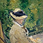 Madame Manet at Bellevue, Édouard Manet