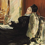 Young Woman with Book, Édouard Manet
